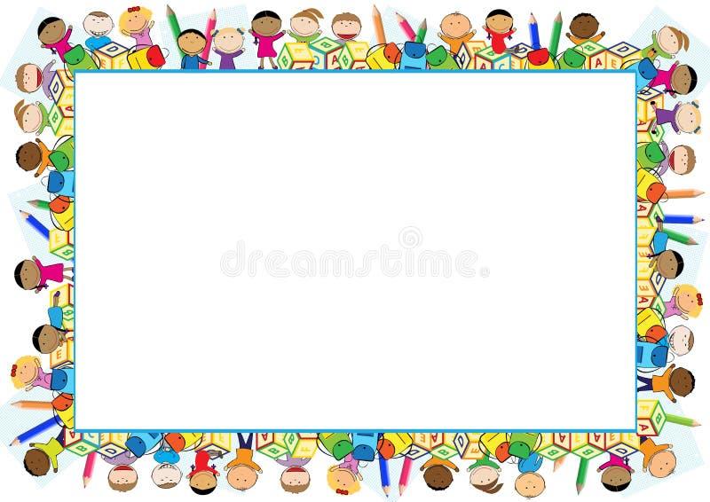 Marco coloreado para los niños stock de ilustración