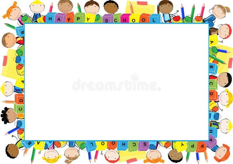 Marco coloreado para los niños ilustración del vector