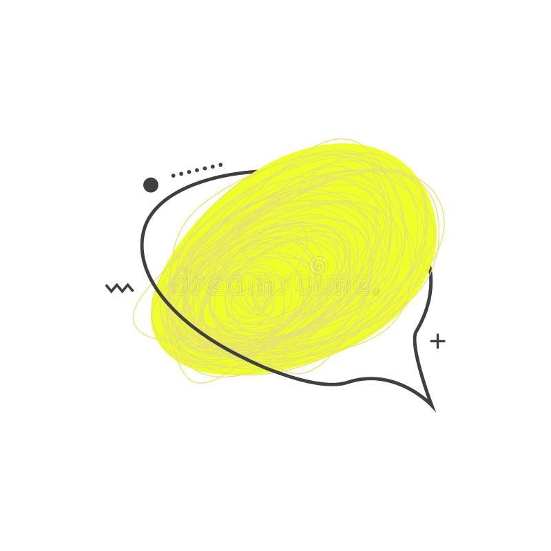 Marco coloreado 90s del bosquejo del garabato del grunge del vector ilustración del vector