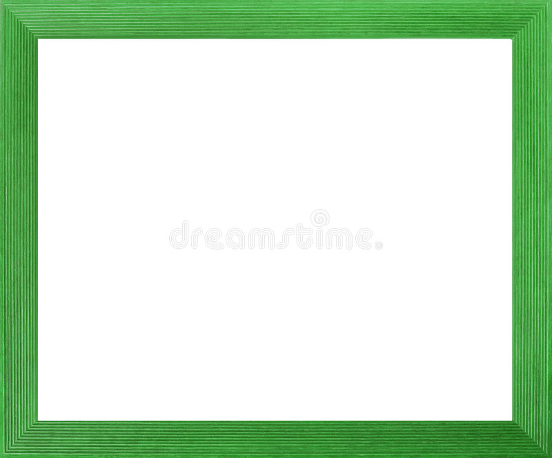 Marco coloreado verde de la foto ilustración del vector