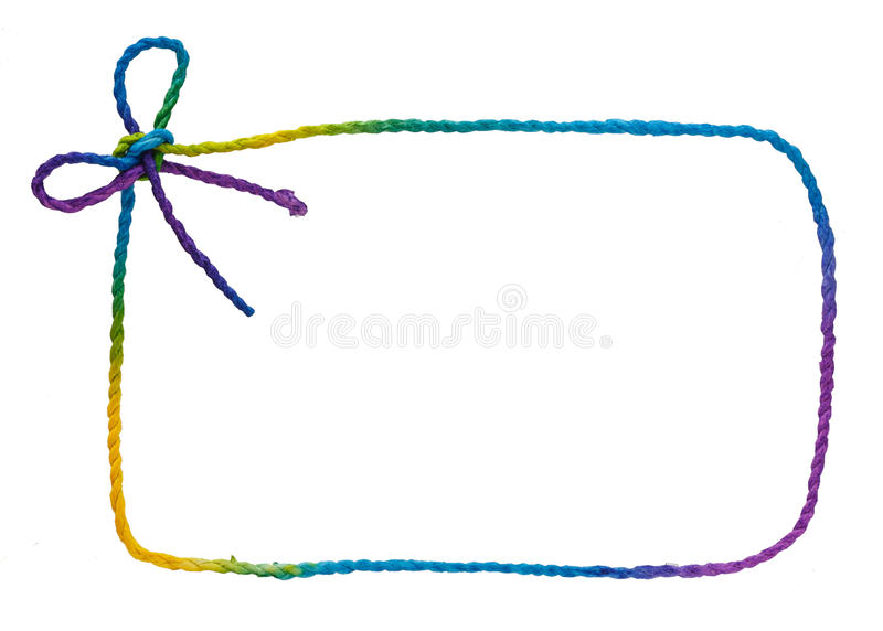 Marco colorido de la cuerda fotografía de archivo libre de regalías