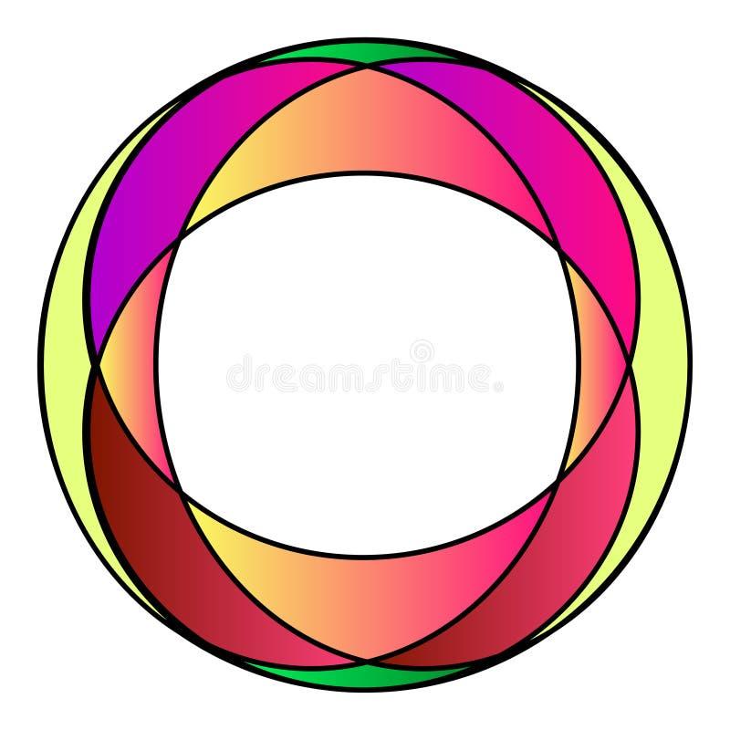 Marco colorido de la foto del cristal de colores stock de ilustración