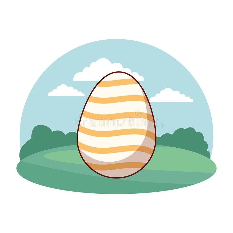 Marco colorido de la ronda del fondo de la naturaleza de la celebraci?n del huevo de Pascua libre illustration