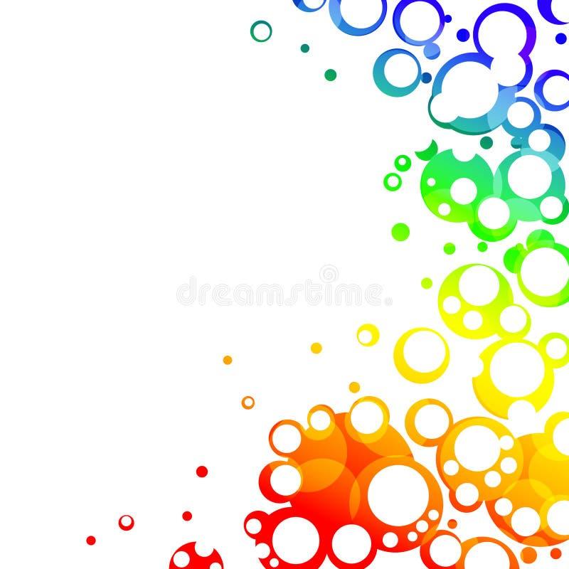 Marco Colorido De Las Burbujas Stock de ilustración - Ilustración de ...