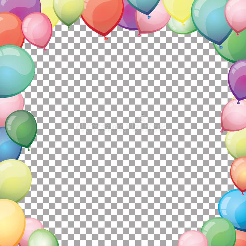 Marco colorido de los globos imagenes de archivo