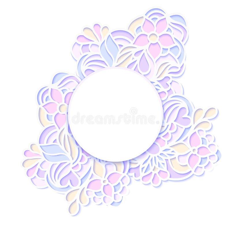 Marco colorido floral ilustración del vector