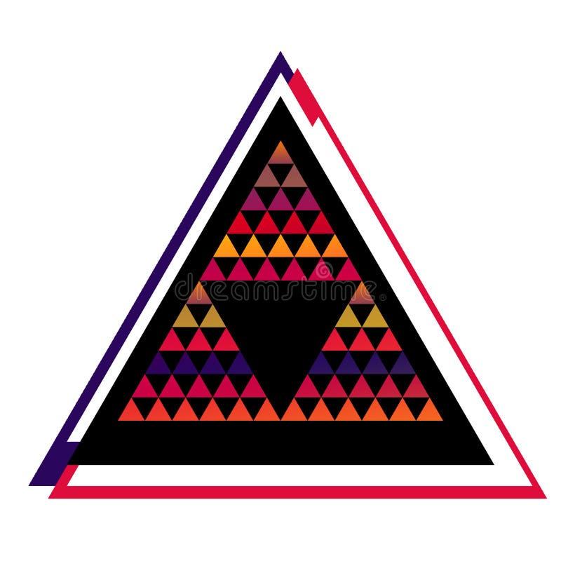 Marco Colorido Geométrico Del Triángulo, Muestra IL De La Pirámide ...