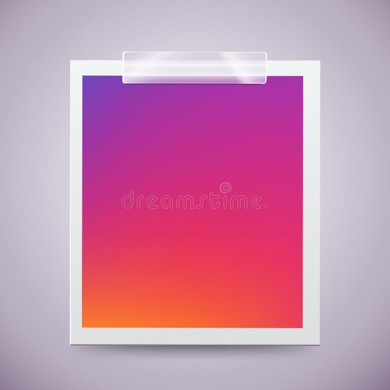 Marco colorido moderno de la foto atado con la cinta adhesiva Concepto dulce de las memorias libre illustration