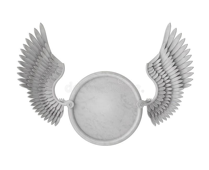 Marco con alas ilustración del vector