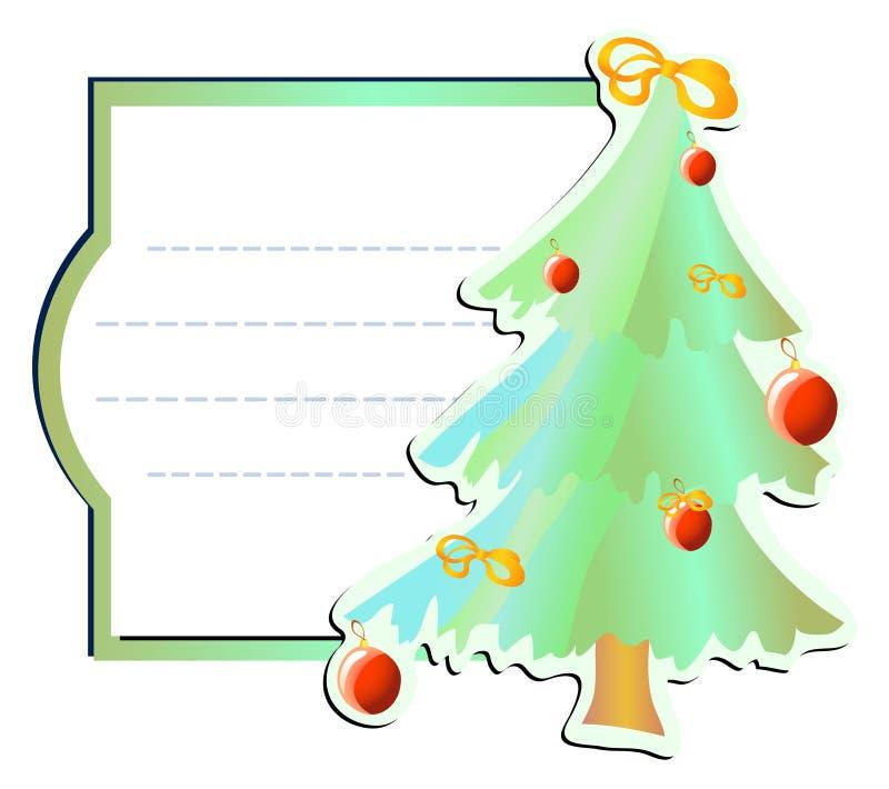 Marco con el Navidad-árbol ilustración del vector