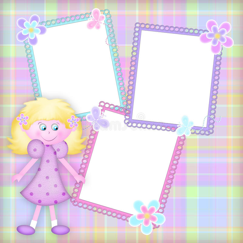 Marco con la muchacha fotografía de archivo libre de regalías