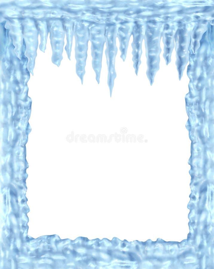Marco congelado del hielo y de los carámbanos libre illustration