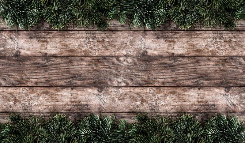 Marco creativo hecho de ramas del abeto de la Navidad, marco conesCreative de la disposición de la disposición del pino hecho de  foto de archivo