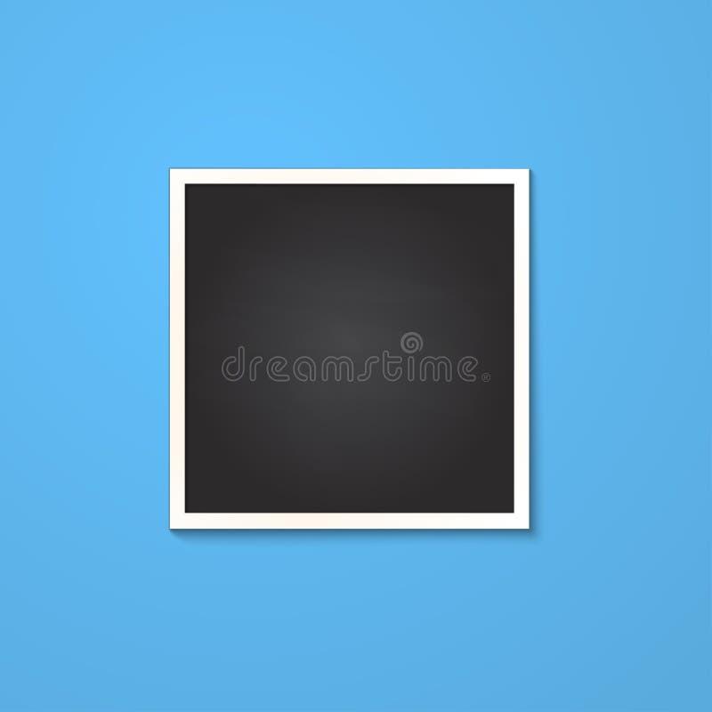 Marco cuadrado aislado en azul fotografía de archivo libre de regalías