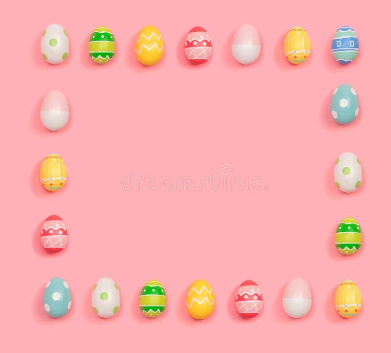 Marco cuadrado de los huevos de Pascua libre illustration