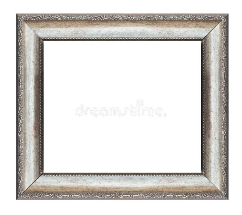 Marco cuadrado de plata imagen de archivo