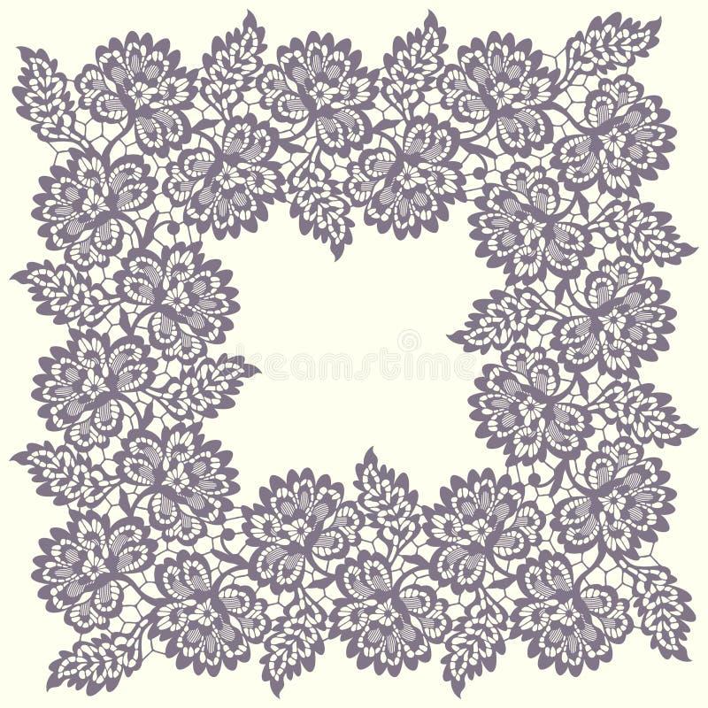 Marco cuadrado del cordón libre illustration