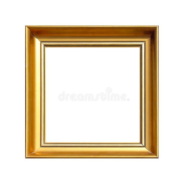 Marco cuadrado del oro fotografía de archivo