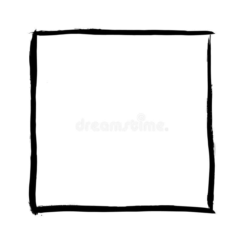 Marco cuadrado dibujado mano stock de ilustración