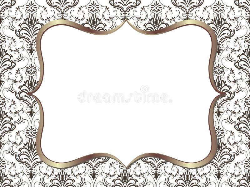Marco cuadrado floral fino del vector Elemento decorativo para las invitaciones y las tarjetas ilustración del vector
