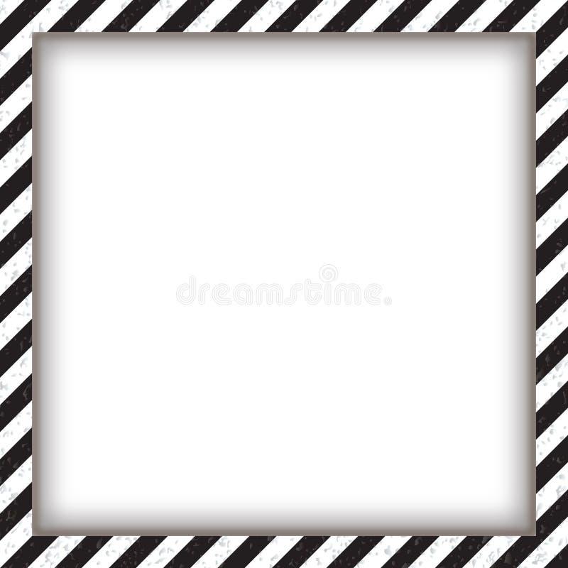 Marco Cuadrado Geométrico Abstracto, Con Blanco Y Negro Diagonal ...