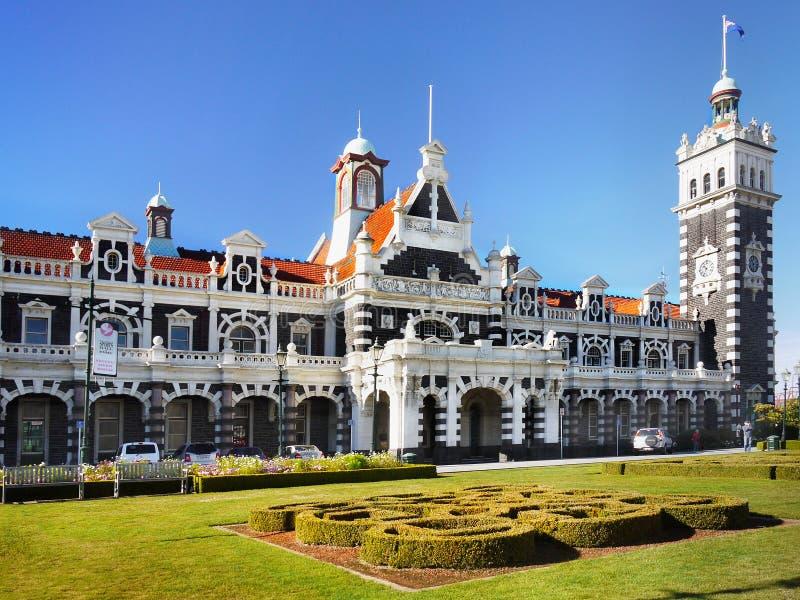 Marco da atração turística da cidade de Nova Zelândia, Dunedin fotos de stock royalty free