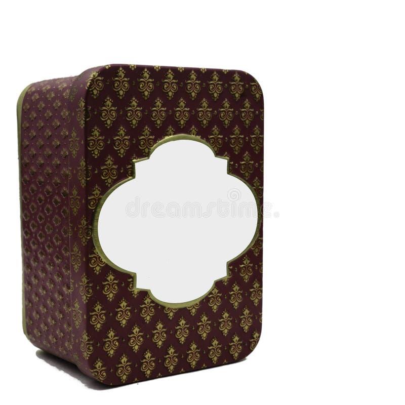 Marco de acero con los ornamentos decorativos aislados en el fondo blanco imagen de archivo libre de regalías