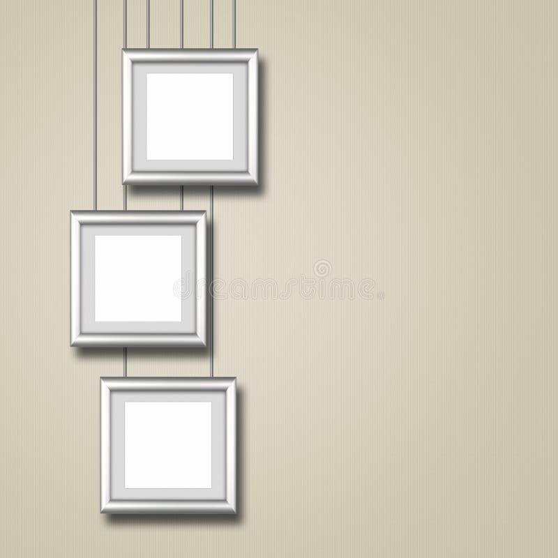 Marco De Aluminio Del Diseño En La Pared Texturizada Imagen de ...
