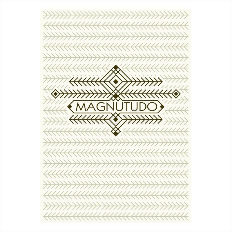 Marco de Art Deco Flourishes del vintage Plantilla ornamental del vector de la tarjeta de felicitación stock de ilustración