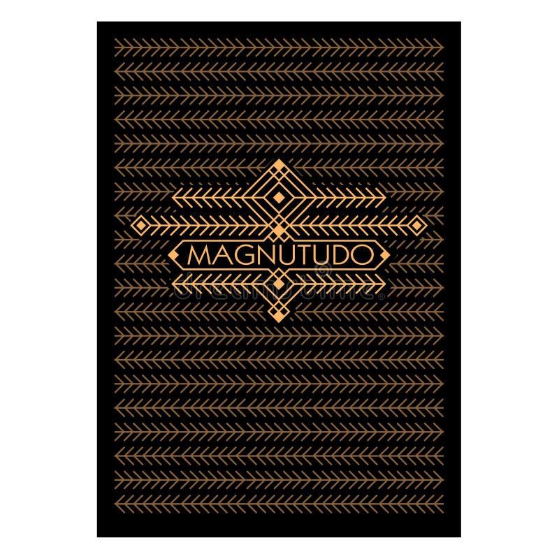 Marco de Art Deco Monochrome Flourishes del vintage Tarjeta de felicitación ornamental Cubierta del fondo Página de título Estilo ilustración del vector