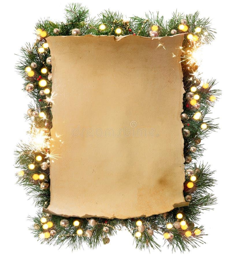 Marco de Art Winter Christmas imagenes de archivo