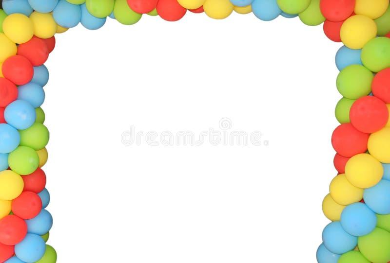 Marco de Baloon ilustración del vector