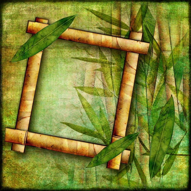Marco de bambú stock de ilustración