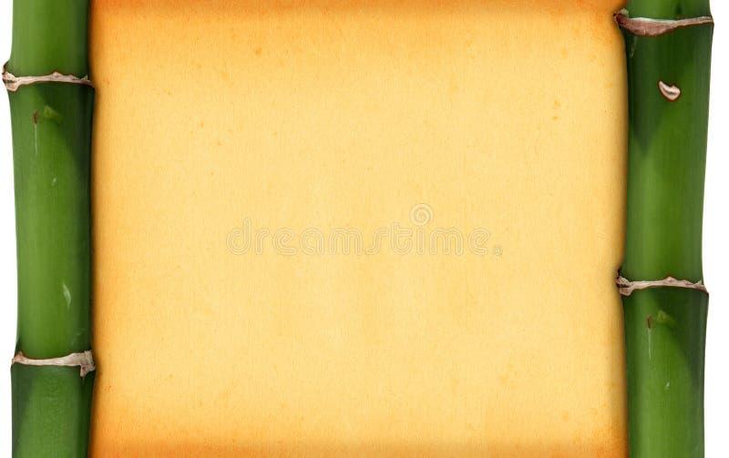 Marco de bambú fotografía de archivo