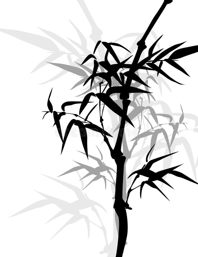 Marco de bambú asiático ilustración del vector