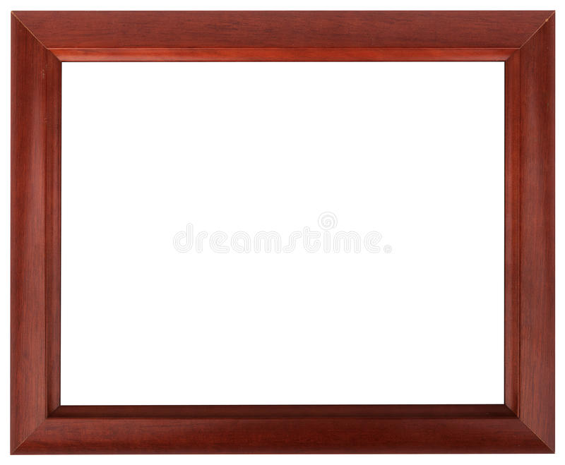 Marco de caoba aislado en el color blanco fotos de archivo