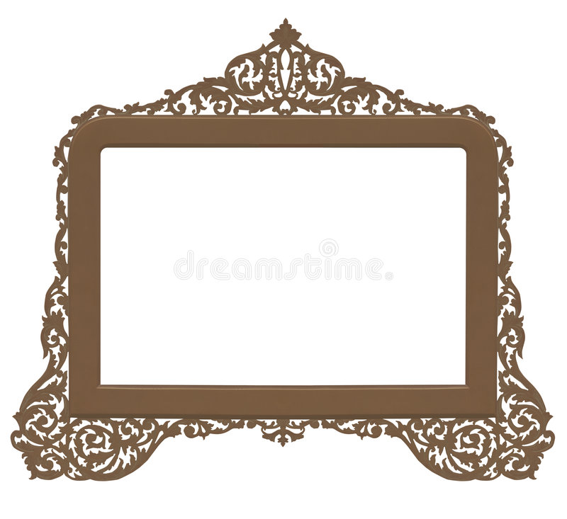 Marco de cobre amarillo antiguo de la vendimia ilustración del vector