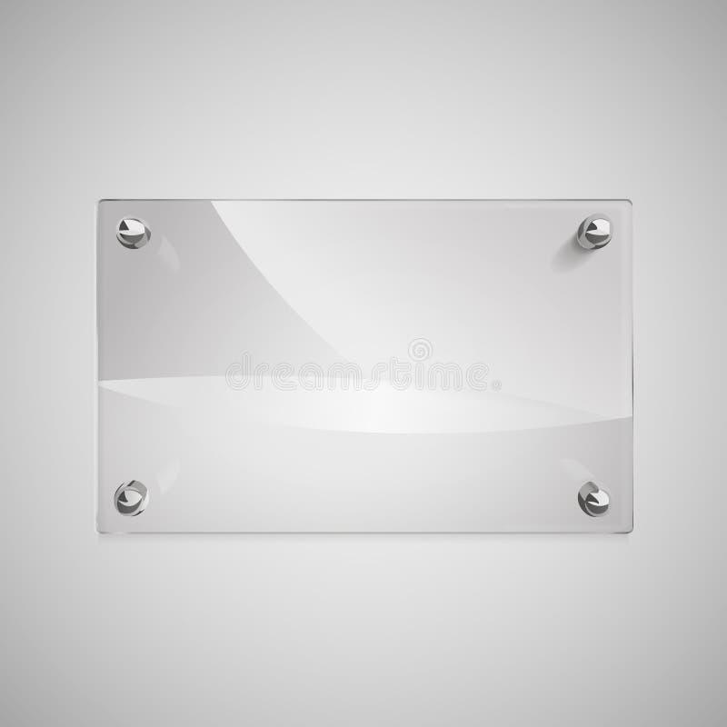 Marco de cristal en blanco con los remaches del metal ilustraci n del vector ilustraci n de - Marcos de cristal ...
