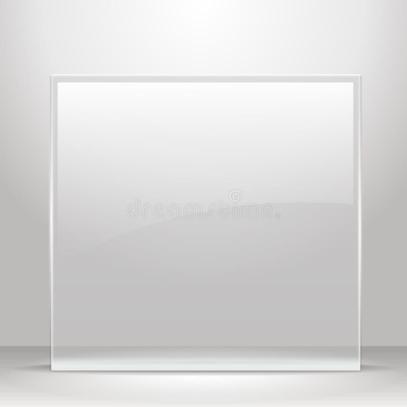 Marco De Cristal Para Las Imágenes Y El Anuncio. Ilustración del ...