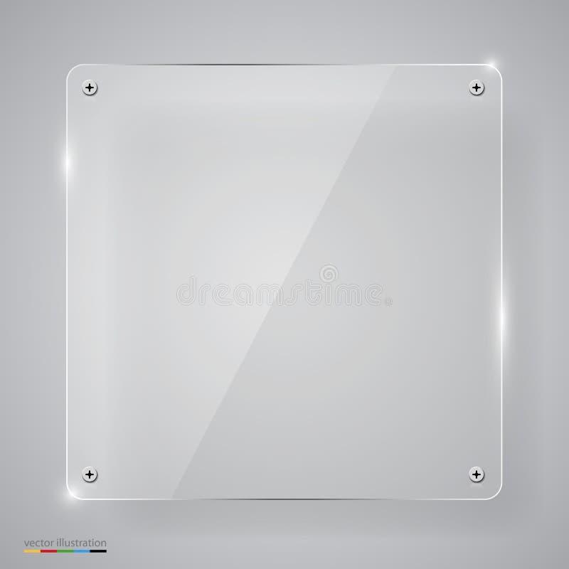Marco De Cristal Transparente Vacío Ilustración del Vector ...