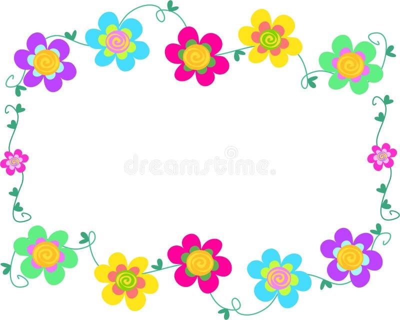 Marco de flores espirales ilustración del vector