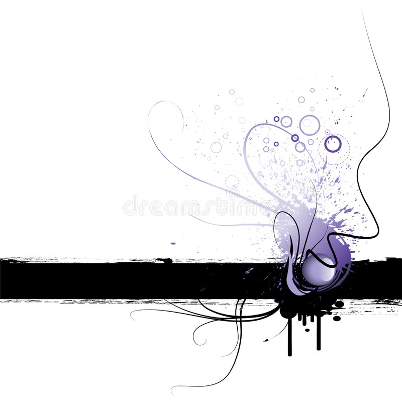 Marco de Grunge stock de ilustración