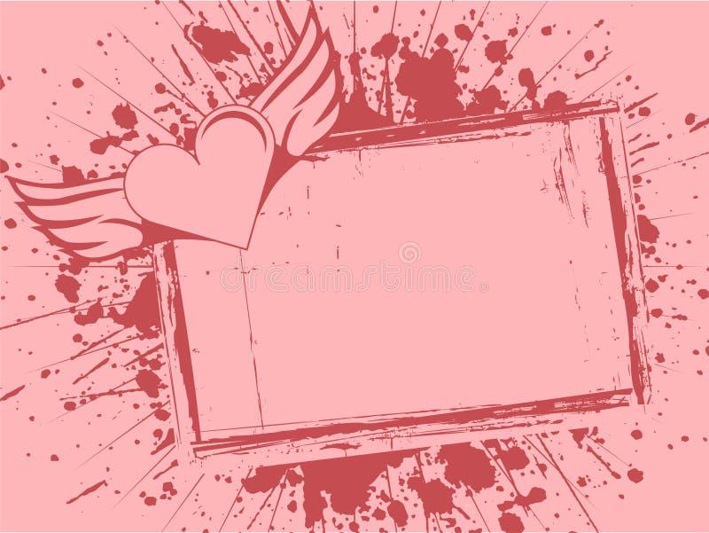 Marco del Grunge con el coraz?n libre illustration