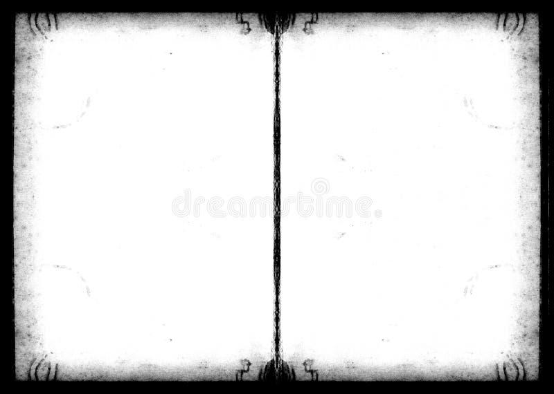 Marco de Grunge del libro de recuerdos foto de archivo