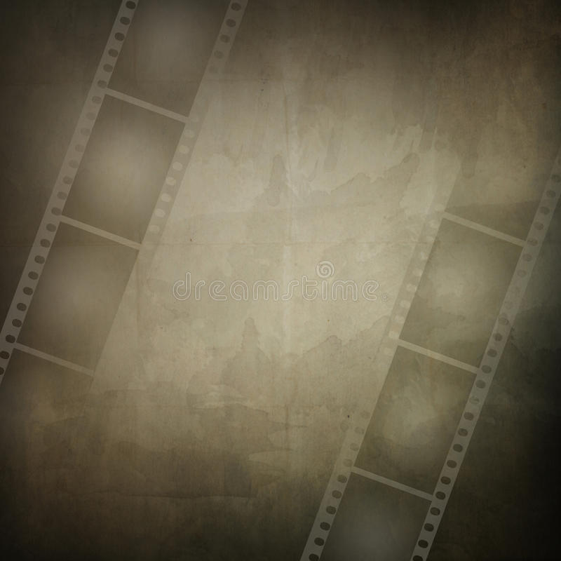 Marco de Grunge hecho de tira de la película de la foto stock de ilustración