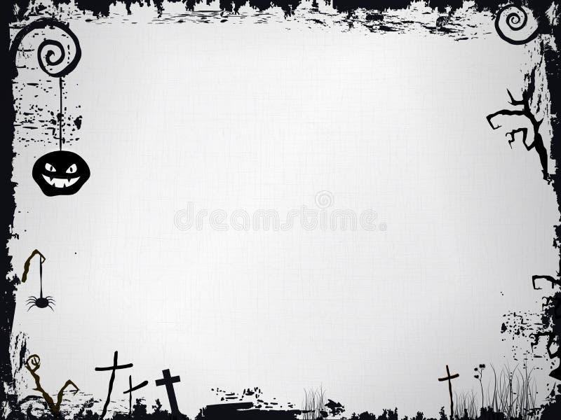 Marco de Grunge Víspera de Todos los Santos ilustración del vector