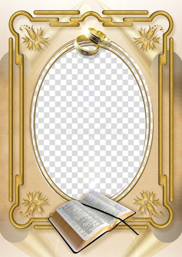 Marco de la boda imagen de archivo libre de regalías