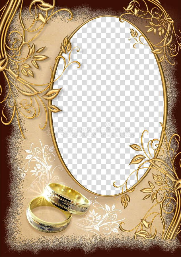 Marco de la boda imagen de archivo
