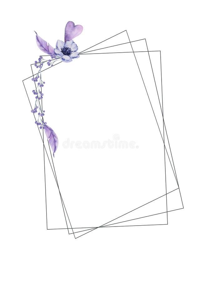Marco de la boda Aislado en el fondo blanco libre illustration