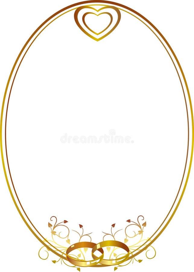 Marco de la boda con el corazón libre illustration